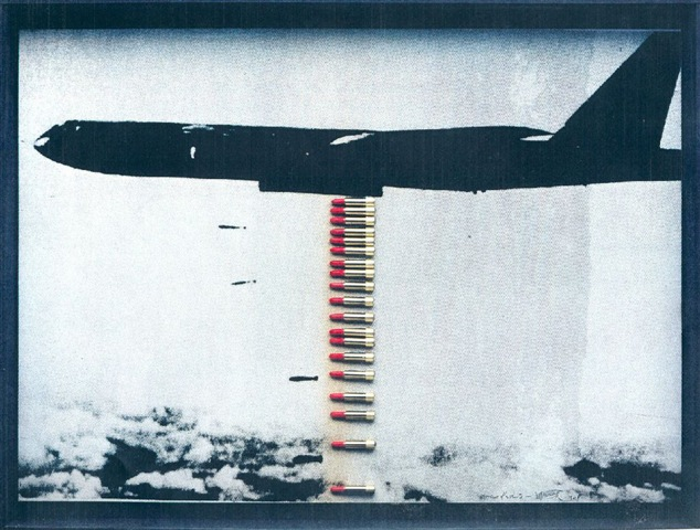 Wolf Vostell_ Bombardieri di rossetti_ 1968_ Collage_ 90 x 125 cm. Collezione Peter Raue© Wolf Vostell by SIAE 201. Ph. Franziska Vu