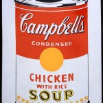 Andy Warhol_ Campbell's Soup Can (Chicken With Rice)_ 1962_ Collezione Brant Foundation © The Brant Foundation, Greenwich (CT), USA © The Andy Warhol Foundation for the Visual Arts Inc. by SIAE 2013