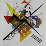 Vassily Kandinsky_ Auf Weiss II_1923_Olio su tela, cm 105 x 98_Donazione Nina Kandinsky, 1976_Georges Meguerditchian Centre Pompidou, MNAM CCI