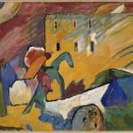 Vassily Kandinsky_ Improvisation III_ 1909_ olio su tela, cm 94 x 130_ Donazione Nina Kandinsky, 1976_ © Centre Pompidou, MNAM CCI :Adam Rzepka : Dist. RMN GP © Vassily Kandinsky by SIAE 2013