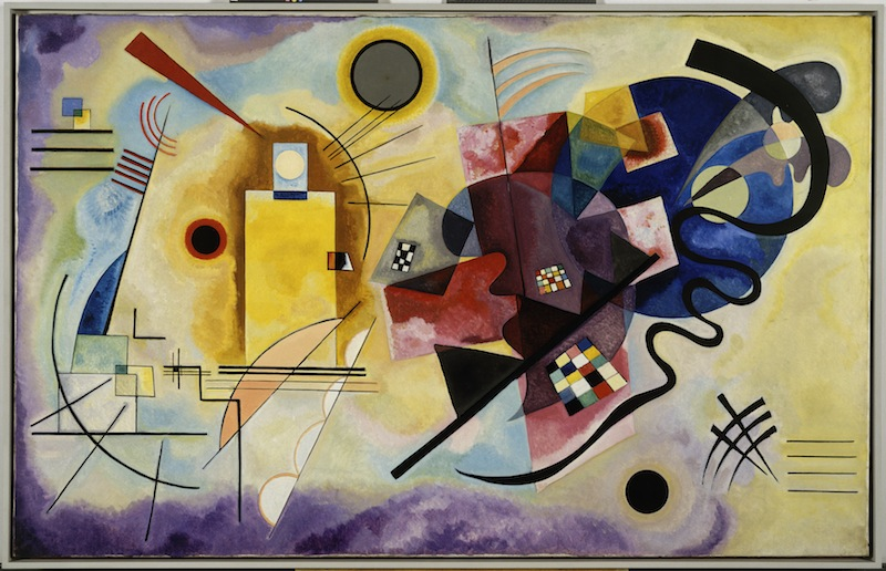 Vassily Kandinsky_Gelb‐Rot‐Blau_1925_Olio su tela, cm 128 x 201,5_ Donazione Nina Kandinsky, 1976_ Philippe Migeat  Centre Pompidou, MNAM CCI