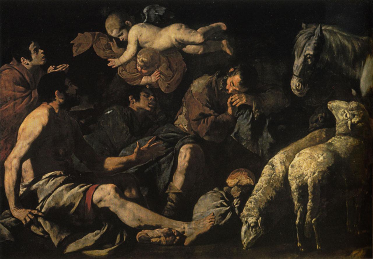 Maestro dell'Annuncio ai Pastori_ Annuncio ai pastori_ Napoli, Museo di Capodimonte