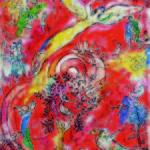 Marc Chagall_ Il trionfo della musica – Maquette per il murale_Metropolitan Opera, Lincoln Art Center, New York_ 1966_ tempera, gouache e collage su carta_ Collezione Privata © Chagall ®, by SIAE 2014