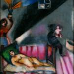 Marc Chagall_ La nascita_1911, olio su tela originale incollata su legno_Collezione Privata © Chagall ®, by SIAE 2014