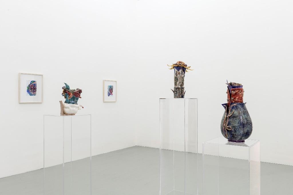Edi Rama_ veduta della mostra presso la galleria Artiaco_ ph Francesco Squeglia
