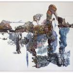 Eugenio Tibaldi_ Myth's Landscape 01_ 2016_ collage di stampe digitali da cartoline e acrilico bianco