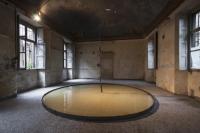 Marco Porta_ Rumori suonano parole_ 2013. Bronzo, ferro, motore elettrico, acqua. ph. Daniele Podda. Courtesy l'artista